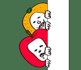 Apple man & Orange man sticker #1356599
