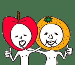 Apple man & Orange man sticker #1356601