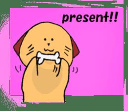 Dog to take reaction of one animal sticker #1357747