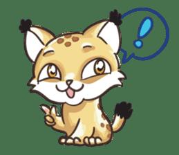 Lala the Lynx sticker #1358572