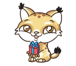 Lala the Lynx sticker #1358580