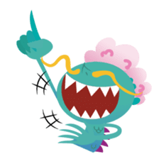 monster town sticker #1359254