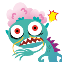 monster town sticker #1359279