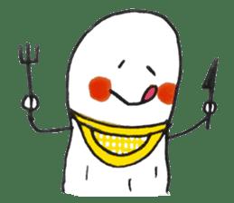 White Peanut-kun(Part 2) sticker #1359450