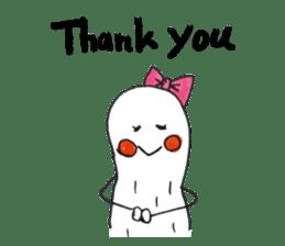 White Peanut-kun(Part 2) sticker #1359464