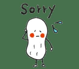 White Peanut-kun(Part 2) sticker #1359465