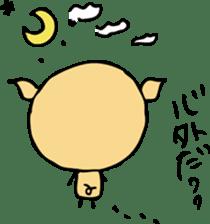 Lovely PIG mu-mu- sticker #1361404