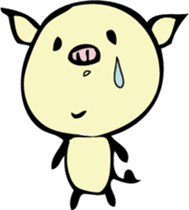 Lovely PIG mu-mu- sticker #1361405