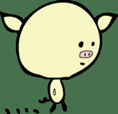 Lovely PIG mu-mu- sticker #1361407