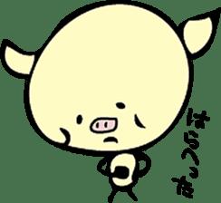 Lovely PIG mu-mu- sticker #1361409