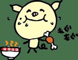 Lovely PIG mu-mu- sticker #1361413