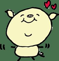 Lovely PIG mu-mu- sticker #1361415