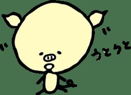 Lovely PIG mu-mu- sticker #1361416