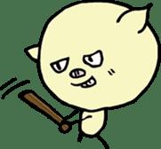 Lovely PIG mu-mu- sticker #1361420
