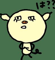 Lovely PIG mu-mu- sticker #1361441