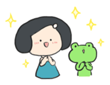 Frog and girl sticker #1363127