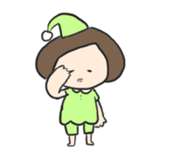 Frog and girl sticker #1363149