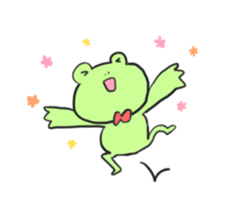 Frog and girl sticker #1363151