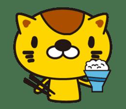 The cat which diets sticker #1363466