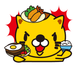 The cat which diets sticker #1363476
