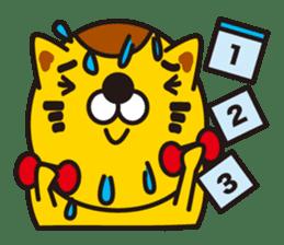 The cat which diets sticker #1363478