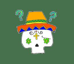 Mexican Skull sticker #1364095