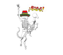 Mexican Skull sticker #1364096