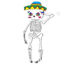Mexican Skull sticker #1364104