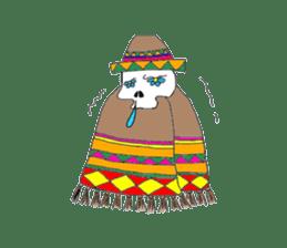 Mexican Skull sticker #1364115