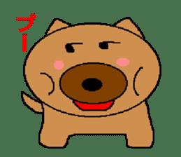 Sticker of a pretty fat dog sticker #1365842