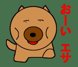 Sticker of a pretty fat dog sticker #1365844