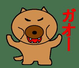 Sticker of a pretty fat dog sticker #1365849