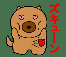 Sticker of a pretty fat dog sticker #1365850