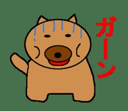 Sticker of a pretty fat dog sticker #1365851