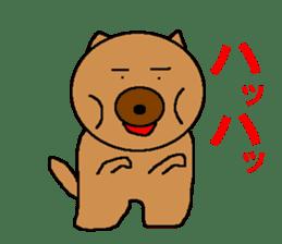Sticker of a pretty fat dog sticker #1365854