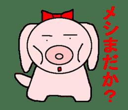 Sticker of a pretty fat dog sticker #1365856