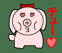 Sticker of a pretty fat dog sticker #1365857