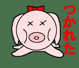 Sticker of a pretty fat dog sticker #1365858