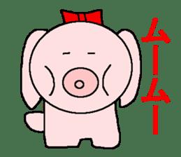 Sticker of a pretty fat dog sticker #1365862
