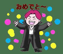 Pink boy sticker #1367415