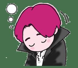 Pink boy sticker #1367420