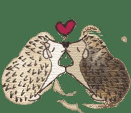 Hedgehogs in Love sticker #1370162