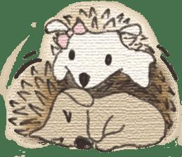 Hedgehogs in Love sticker #1370168