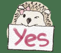 Hedgehogs in Love sticker #1370170