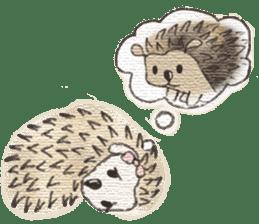 Hedgehogs in Love sticker #1370184