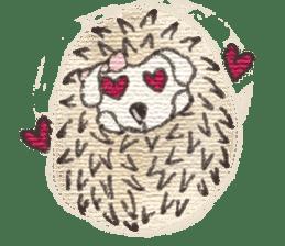 Hedgehogs in Love sticker #1370189