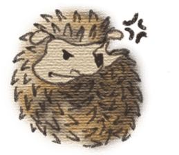 Hedgehogs in Love sticker #1370191