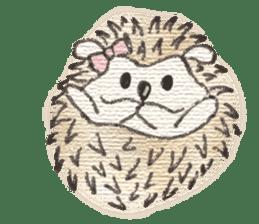 Hedgehogs in Love sticker #1370198