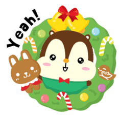 Squly & Friends: Merry Xmas sticker #1373900