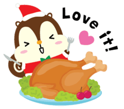 Squly & Friends: Merry Xmas sticker #1373901